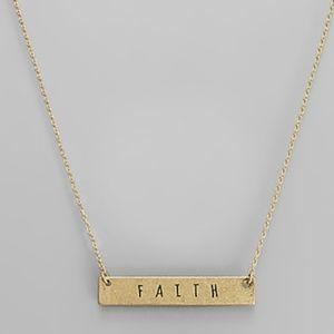 Faith bar neckalace